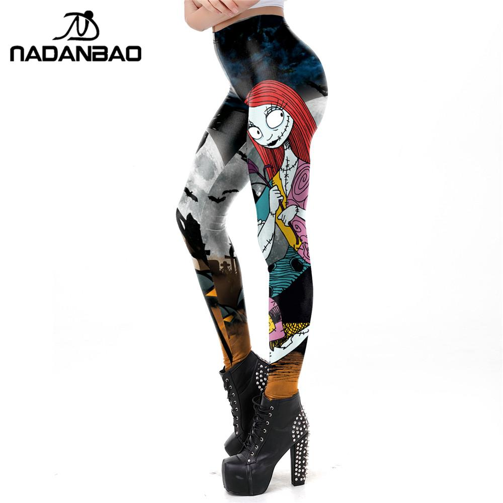 NADANBAO The Nightmare Before Christmas Leggings Halloween Classic Pants Women Workout Leggins Fashion Sexy Elastic Legins 2