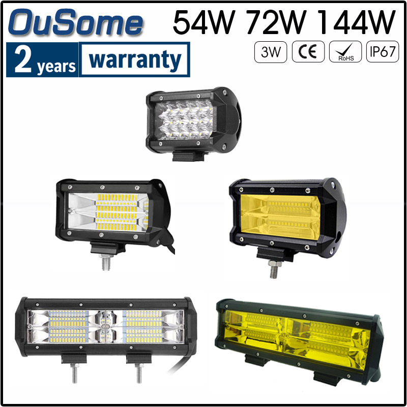 "6x 3/"" 24W LED Work Light Pods w// RGB Halo Change Chase /& Bluetooth Wiring"