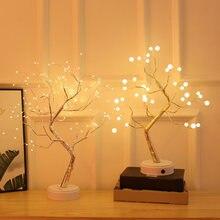 36/108 светодиоды ночной Светильник бонсай дерево Медный провод