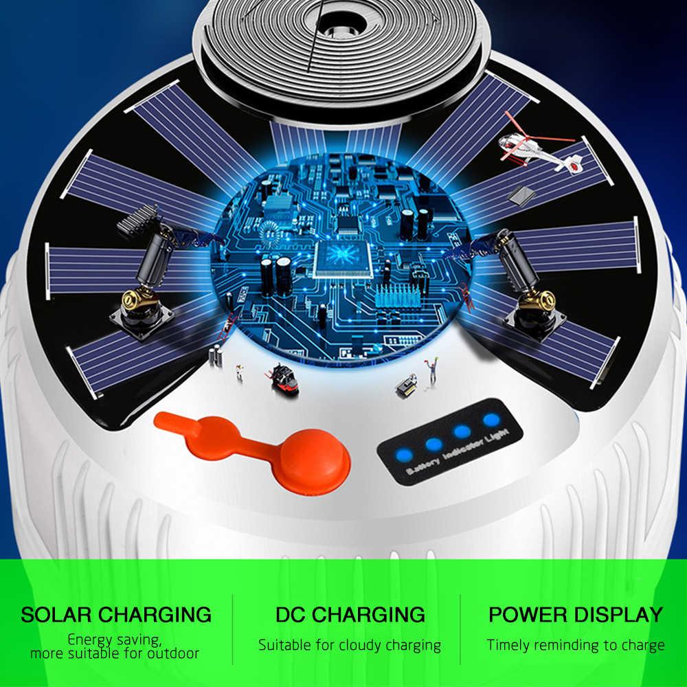 3D Solare di Carica A LED Lampadina Lampadina A risparmio energetico Struttura Della Lampada di Mercato Lampada di Notte Mobile di Campeggio Esterna Interruzione di Alimentazione Di Emergenza lampada