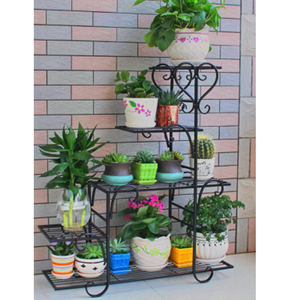 Многослойная Кованая подставка для растений, полка для цветочных горшков для дома, современный декор, железная стойка для растений, суккуле...
