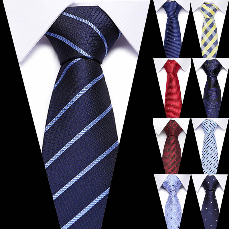 NEXT Gifts For Men Skinny Retro Mens Black White Polka Dot Spot Silk Necktie Tie