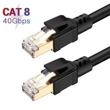 Cat8 Cable Ethernet CAT8 de 40Gbps, 2000MHz, supervelocidad, CAT 8, Cable de conexión Lan para enrutador, módem, PS4, PC, RJ 45