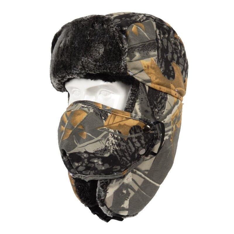 quente piloto boné ushanka orelha máscara facial