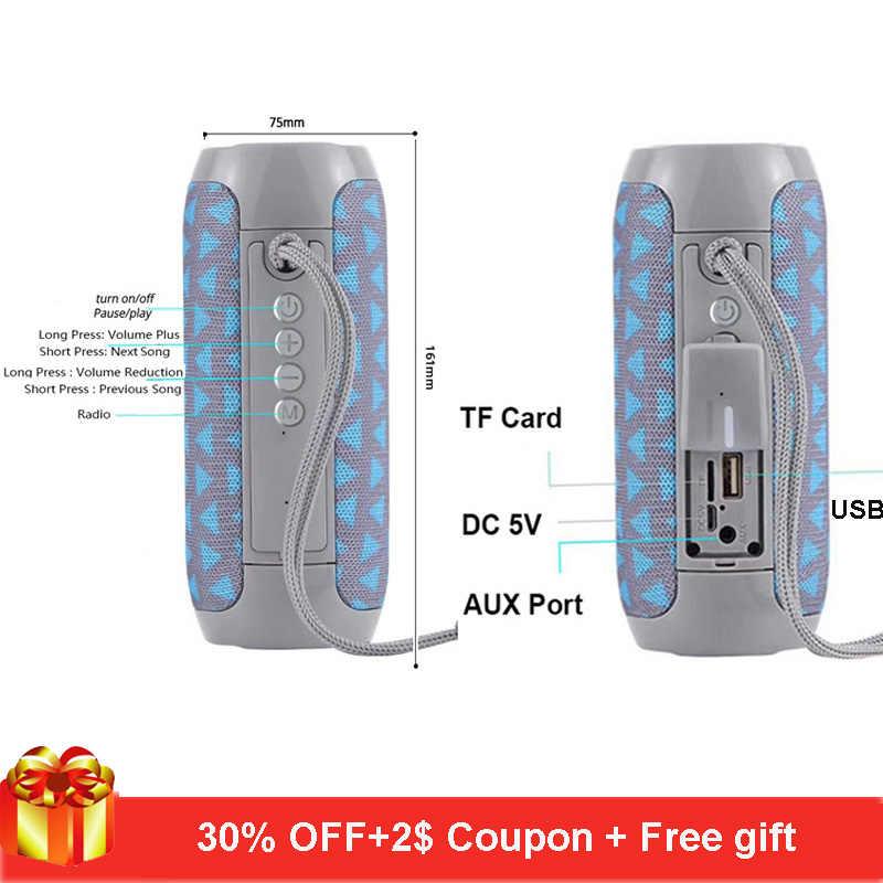 TG117 ワイヤレス bluetooth ポータブルスピーカー altavoz bluetooth サウンドボックス 10 ワット屋外 tf カード、 fm ラジオマイク