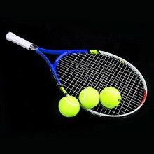 Новая Теннисная ракетка из алюминиевого сплава для тренировок, ракетка для тенниса, углеродное волокно, материал верха из стали, теннисная веревка с сумкой для переноски