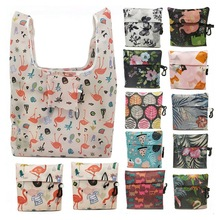 Shoulder-Handbag Pouch Grocery Folding Printing Large Reusable Waterproof Eco for Travel