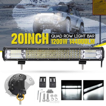 1200W 20 Inch LED Work Light Bar Spot Flood Combo Driving Lamp Waterproof LED Work Light For SUV ATV Offroad Car Truck Boat