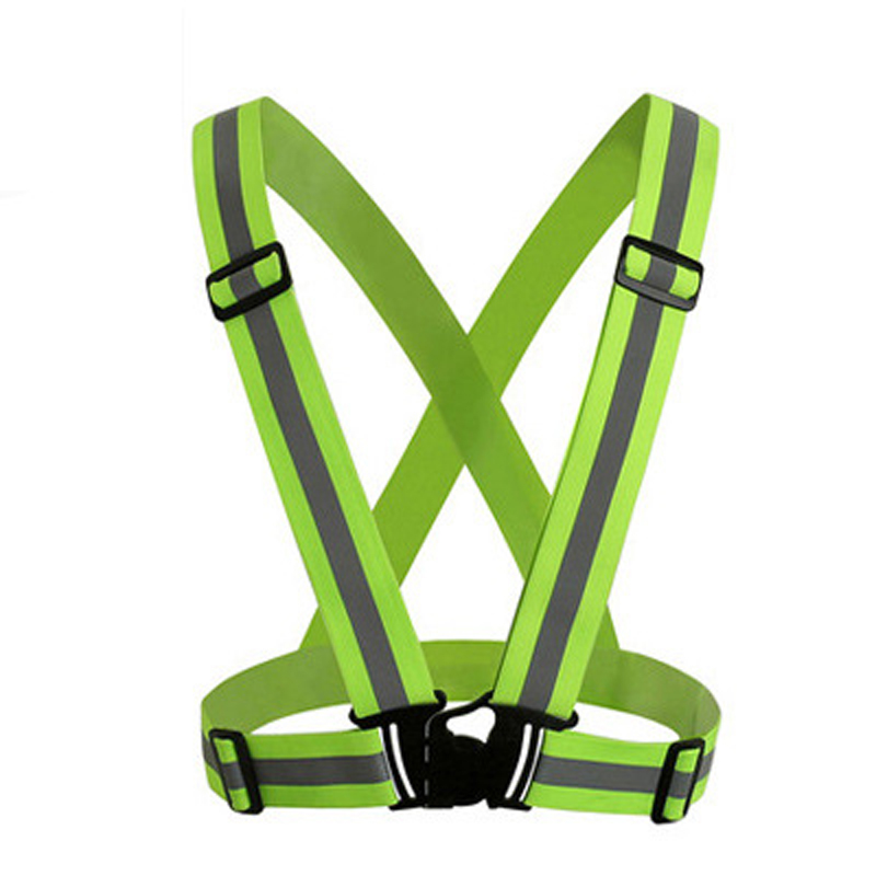 Reflective Vest High Visibility Unisex Outdoor Running Cycling Safety Vest Adjustable Elastic Strap Fluorescence Work Wholesale 4