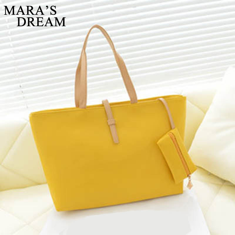 Mara's Dream 2019 New Tide Commuter Belt Buckle Solid Color Zipper Casual Wild Portable Big Bag