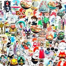 100 pçs bonito vsco miyazaki hayao spirited afastado anime adesivos mala graffiti adesivo portátil bicicleta do carro da motocicleta crianças brinquedos