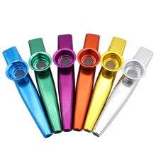 6 шт. нетоксичный Подарочный музыкальный инструмент забавные kazoo вечерние принадлежности мелодичный ремешок прочный металлический набор