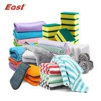 East wysokiej jakości narzędzia do czyszczenia kuchni ręczniki do prania ścierki gąbka z drapakiem ściereczka z mikrofibry do mycia naczyń w Ściereczki do czyszczenia od Dom i ogród na