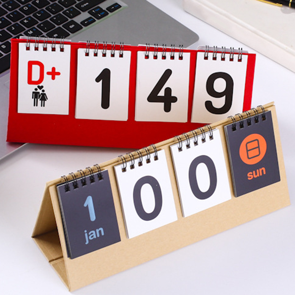 2020 Coated Paper School Desk Calendar Home Office Double Sided Stationery Agenda Organizer DIY Perpetual Flip Countdown Vintage