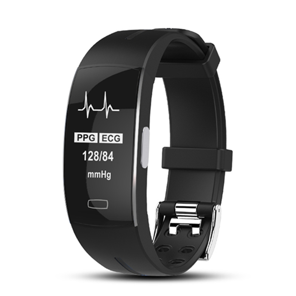Black White Screen <font><b>Smart</b></font> <font><b>Band</b></font> PPG ECG Cardio Heart Rate Monitor Fitness Bracelet Pedometer Activity Tracker Smartband Men Women image