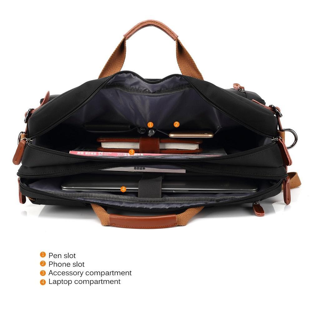 Multi use Design Laptop Bag For Macbook Air Pro Case 15.6, 17,17.3 Laptop Backpack/Messenger Backpack Men Business Bag-in Laptop Bags & Cases from Computer & Office    3