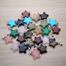 Fashion natural stone Star Party Women's Pendant Necklace Female Choker Jewelry Simple Ladies Pentagon-Star Gifts wholesale(China)