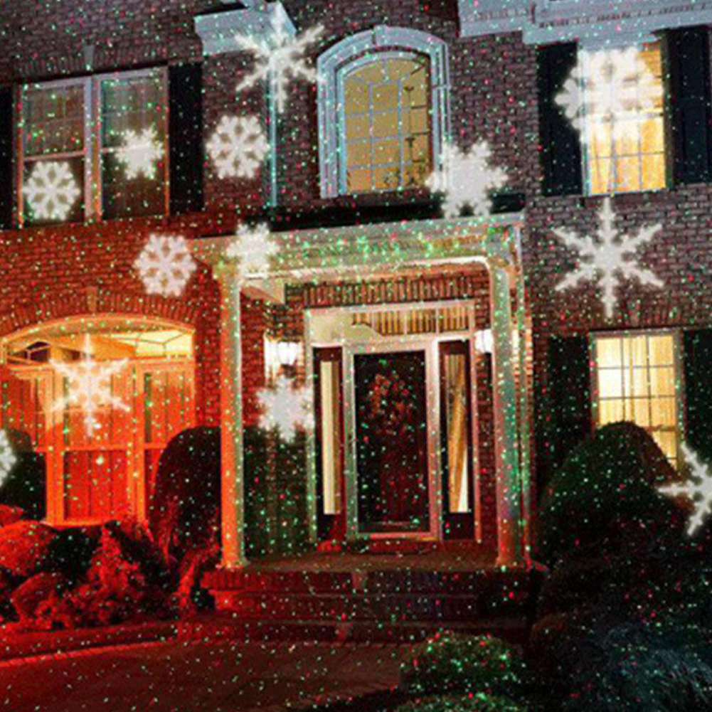 Magic Christmas Dynamic Snowflake Projection Lamp Festival Decoration DC 5V