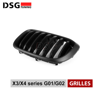 Image 4 - Front Kidney Grill For BMW G01 G02 Bumper Racing Grille X3 X4 ABS Gloss Black/Matt Black Auto Styling xDrive20i xDrive30i 2018+