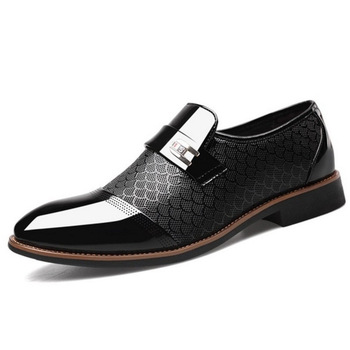 Italian Black Formal Shoes Men Loafers Wedding Dress Shoes Men Patent Leather Oxford Shoes For Men Chaussures Hommes En Cuir 7