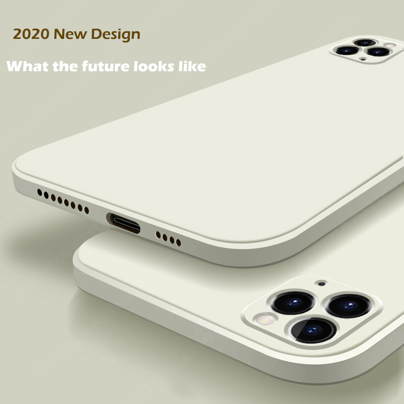 2020 New Luxury Liquid Silicone Case For iPhone 11 Pro Max 12 protector Case For iPhone X XS MAX XR 7 8 6 6S PLUS SE 2020 Cover(China)