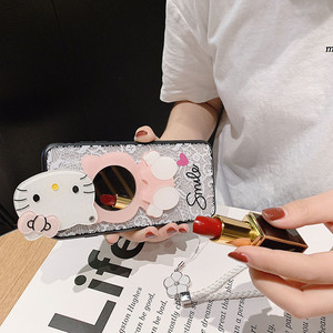 Image 5 - For Huawei Y9 2019 Case Y9Prime 2019 Y7 2019 Cover Y6Pro 2019 Y7Pro 2019 Funda Y5 2019 3D Kitty Lace Mirror Case KONSMART