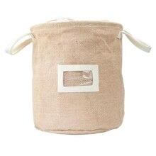 Корзина для хранения из натурального джута, грязная ткань, сумка для сбора, корзина-сумка для грязного белья, ткань для хранения, складной органайзер, водонепроницаемый ящик для хранения