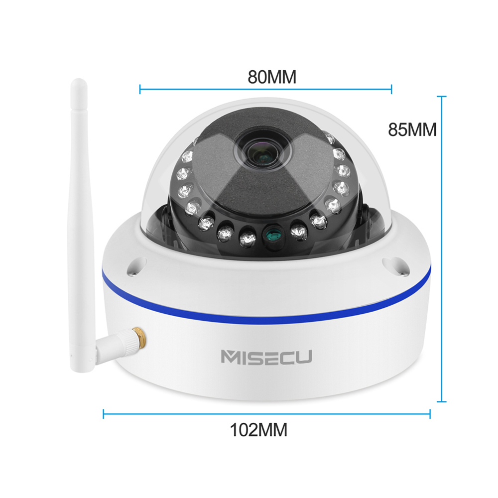 Misecu 8CH HD 3MP Wireless Camera Set CCTV Security Camera System Wifi NVR Vandalproof Dome Camera WIFI Surveillance Camera Kit