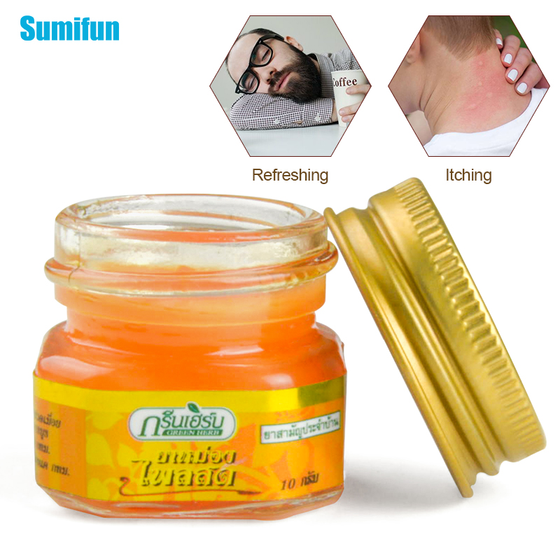 1pcs Thailand Herbal Orange Ointment Mint Cool Cream For Headache Toothache Dizziness Pain Relief Balm Refresh Oil  P0053