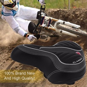38# Comfortable Wide Big Bum Bike Bicycle Gel Cruiser Extra Sporty Soft Pad Saddle Seat Suitable For Any Type Of Bike