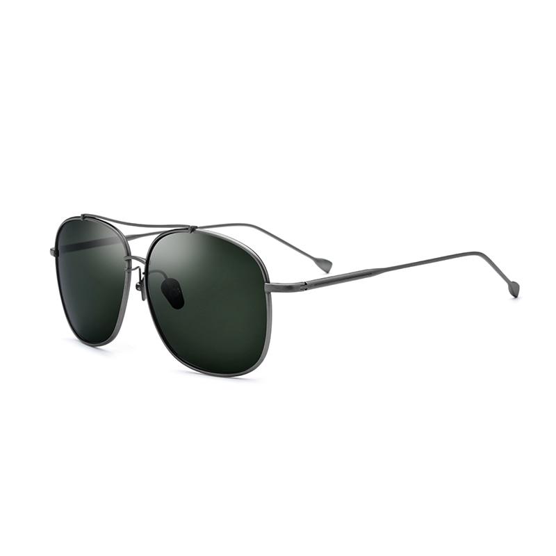 Titanium Polarized Sunglasses Square Of Super Light Designer Without Mounting Aviation Design Style Brand Glasses Oculos De Sol