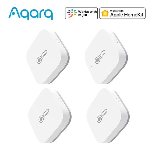 Aqara casa inteligente sensor de umidade temperatura detectar pressão atmosférica sem fio zigbee trabalho com homekit mijia app