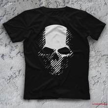 Camisa masculina ghost recon preto unisex t-shirts-camisas 4851