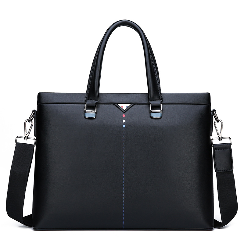 38cm Wide Large Men's Briefcase PU Leather Satchel Bags Male 14 Inch Laptop Bag Handbag Business Shoulder Bags Briefcase