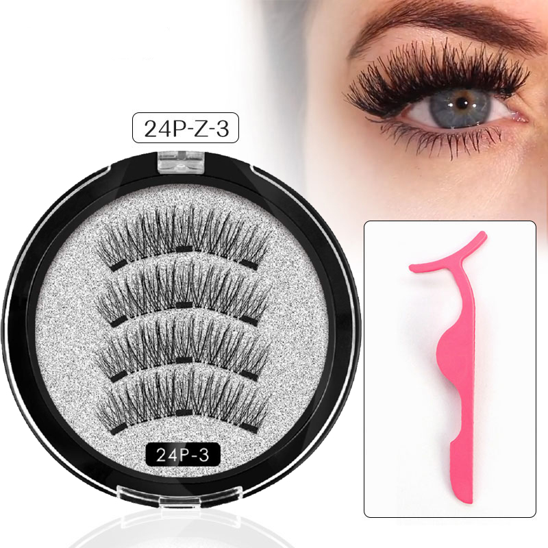 Magnetic Eyelashes 3D Magnetic Lashes Natural False Eyelashes Magnet Eyelashes Makeup Extension Faux Cils Magnetique