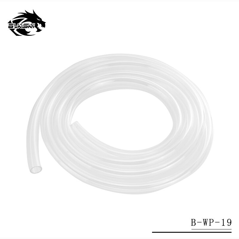 Bykski 13mm Inner Diameter + 19mm Outer Diameter PU Silicone Tube Transparent Water Pipes 1 Meter/pcs 13/19mm Hose