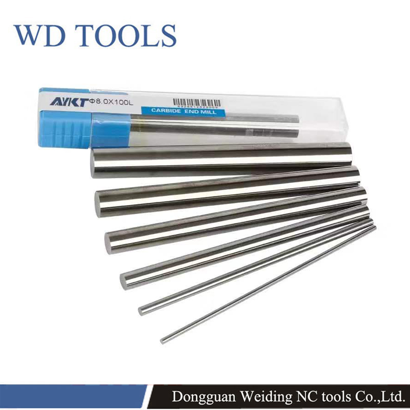 1pcs CNC Milling Tools 2mm 3mm 4mm 5mm 6mm AYKT Carbide Round Rods Bar High Wear Resistance Solid Carbide Rod/bar