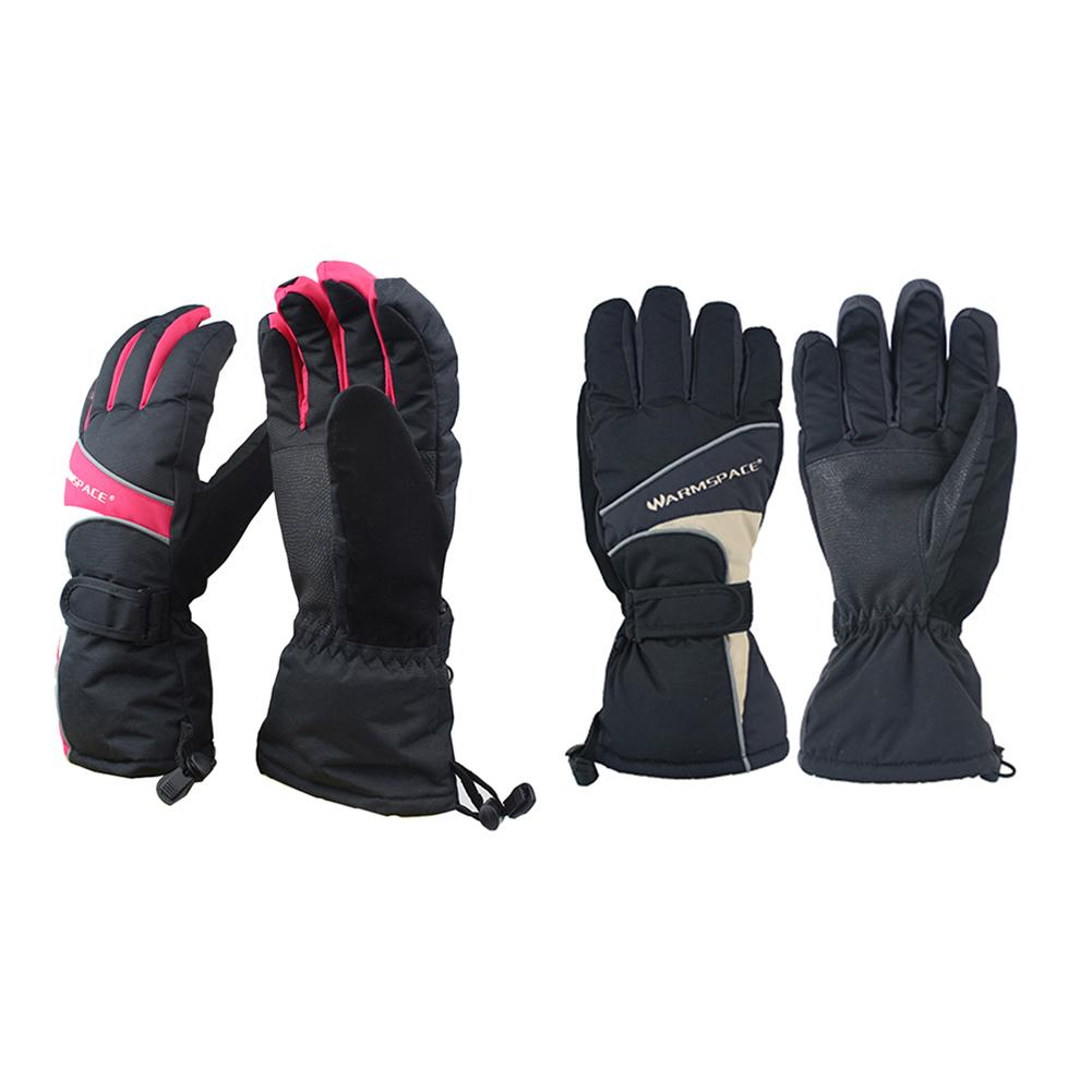 Outdoor Winter Warmers Glove Electric Rechargeable Heated Gloves Liners For Climbing Hiking Cycling Waterproof Breathable Glove