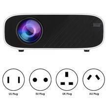 W90 портативный lcd HD обработка изображений 480P стандартная версия проектор белый 100 V-240 V портативный проектор