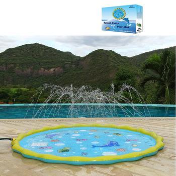 Inflatable Splash Pad Wading Pool Kiddie Pool and Sprinkler for Kids Toddlers and Babies Toddler Toys Backyard Splash Play Mat