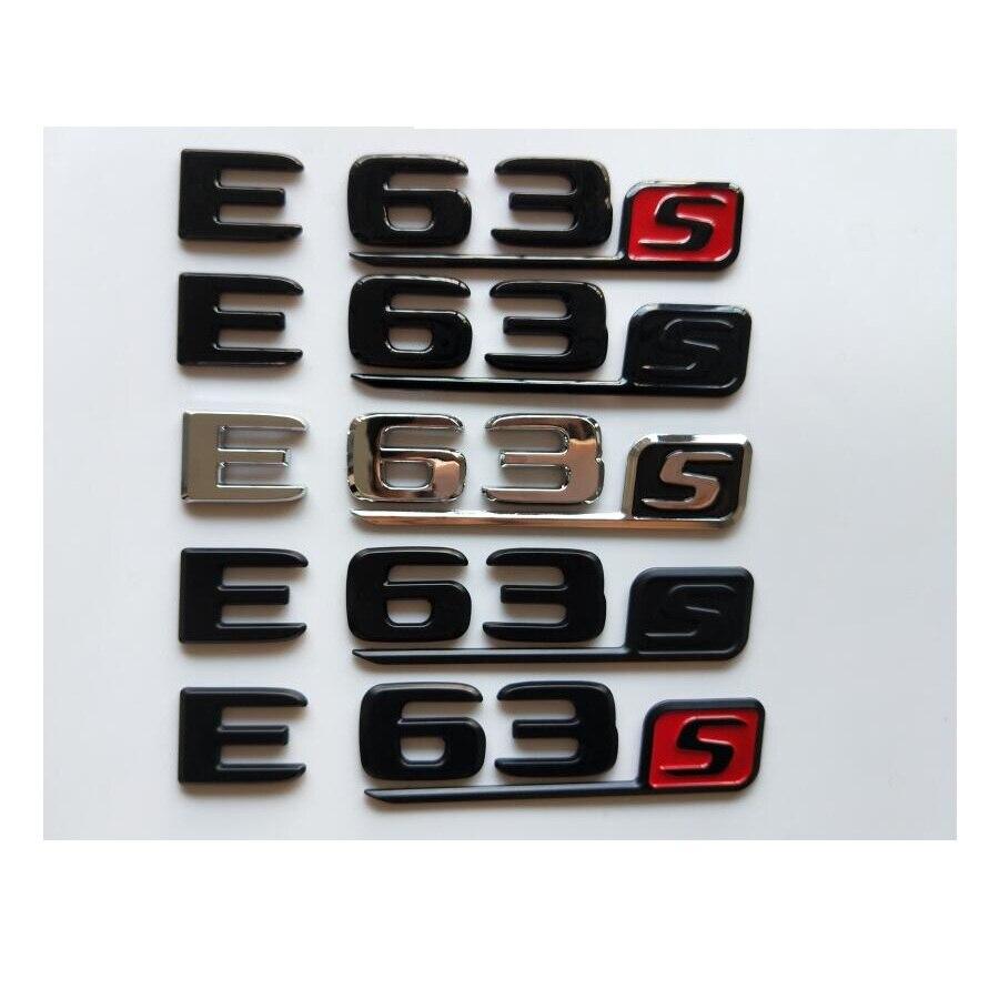 Krom siyah harfleri amblemi Mercedes Benz için W212 W213 E63s E63 S AMG gövde arka amblemler numarası rozeti