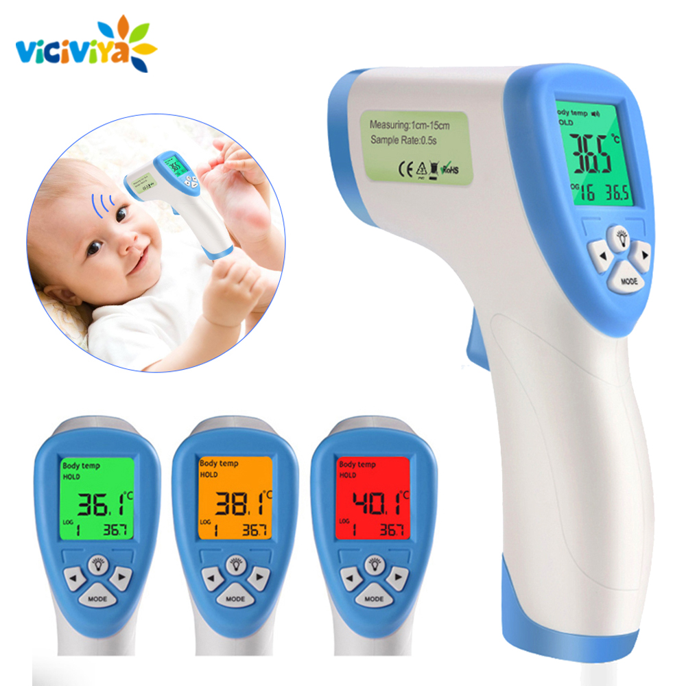 Baby Adult Infrared Thermometer Electronic IR Digital LCD Fever Gun Forehead Temperature Measurement Disposable Mask Prevention