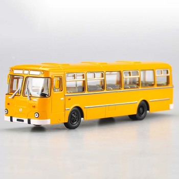 1/43 scale simulation alloy diecast Russian bus 677M vehicle model exquisite interior bus model adult children gift collection