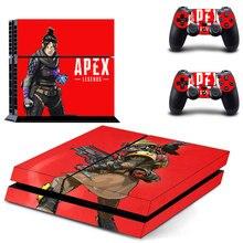 APEX Legends стиль наклейка кожи наклейка для PS4 Playstation 4 консоли пленка+ 2 шт. контроллеры Защитная крышка DPTM2458
