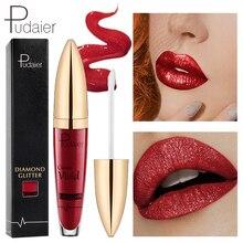 18Colors Diamond Glitter Lipquid Lipstick Non-Stick Cup Nutritious Matte Pigment  Waterproof Liquid