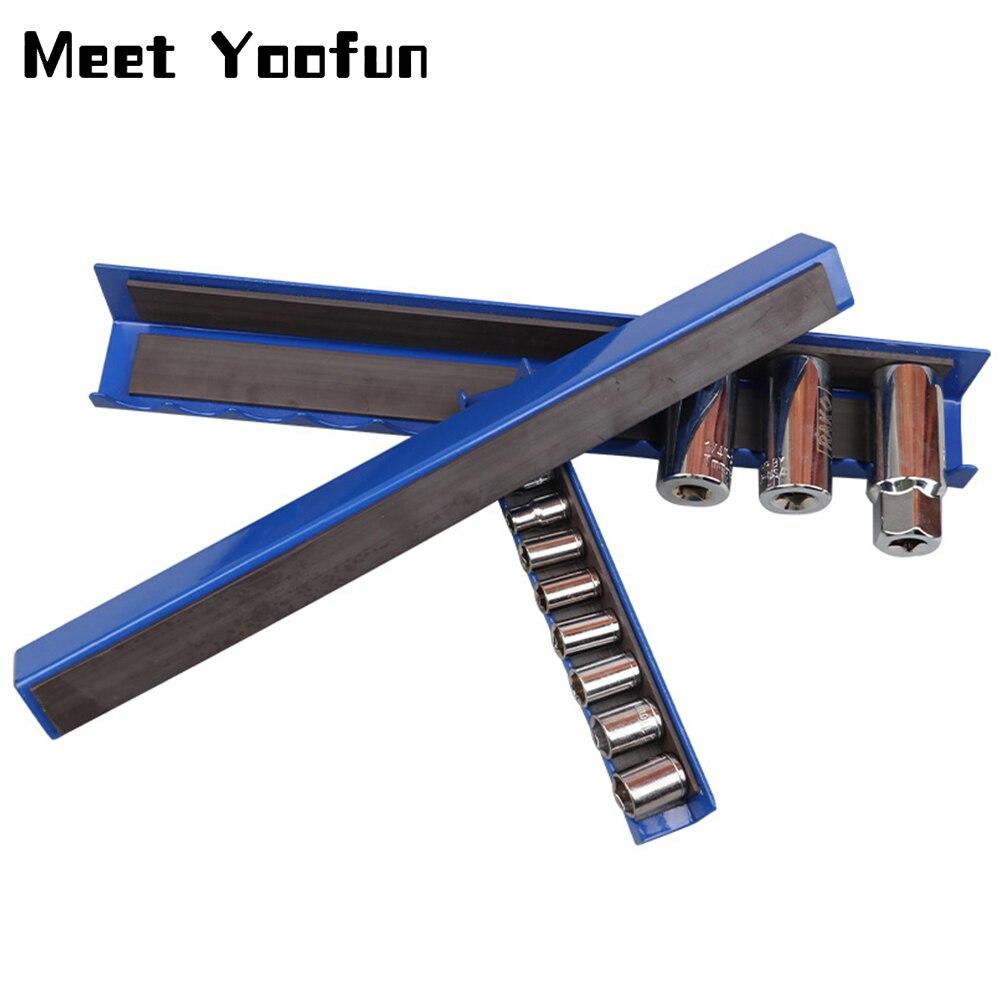 3pcs/set Magnetic Tool Holder Bar Organizer Storage Rack Tool With Strong Magnet Storage For Garage Workshop Metal Tools Storage