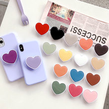 Universal mobile phone bracket Cute 3D airbag Phone Expanding Stand Finger Holder Mobile Accessories love holder for phone clip