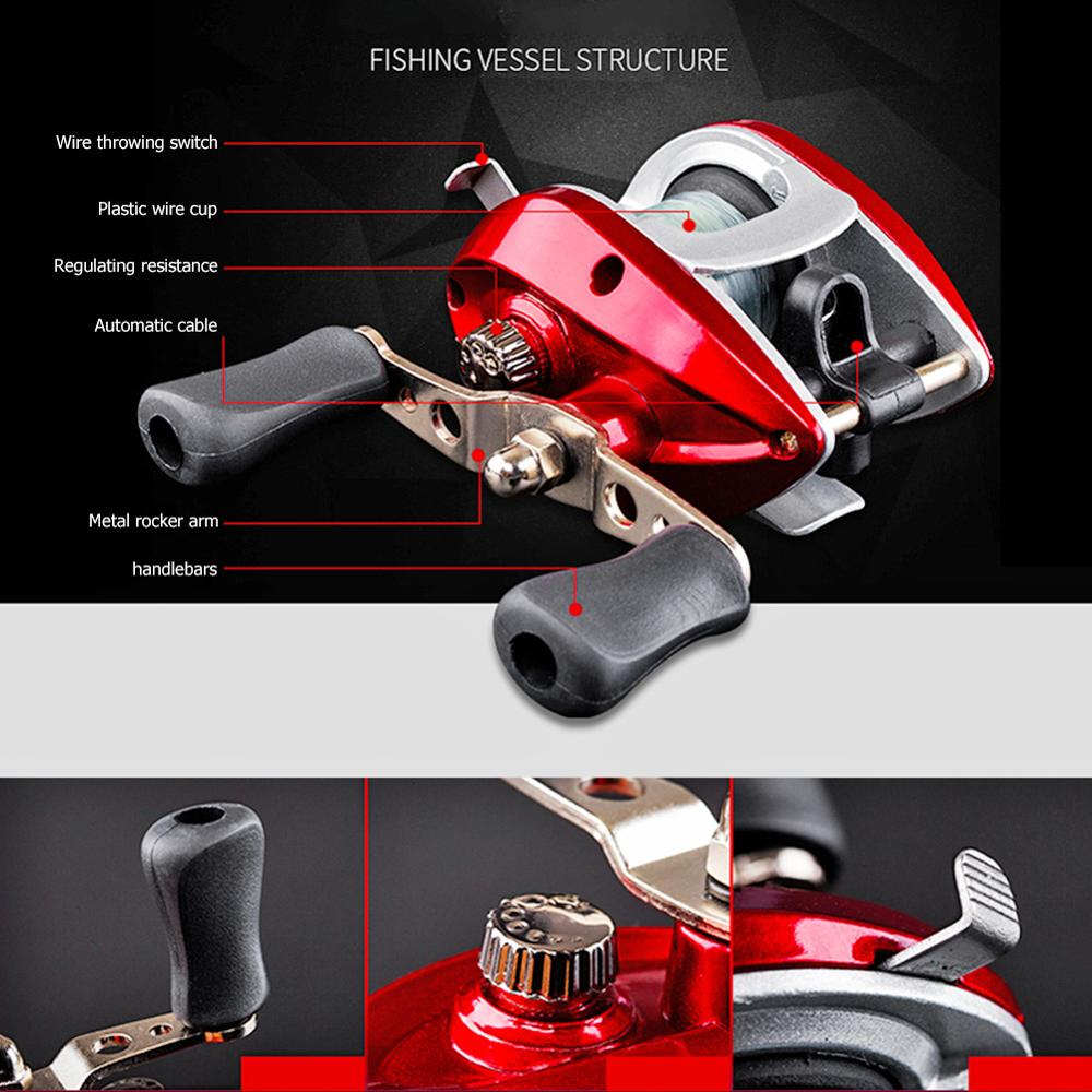 Bearings Waterproof Right Hand Baitcasting Spinning Fishing Reel with Line