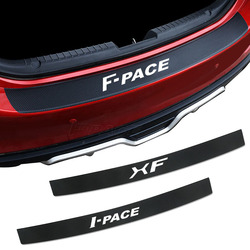 Amortecedor traseiro do carro de carga protetor fibra carbono adesivos para jaguar E-PACE F-PACE I-PACE xe xf xj tronco guarda placa decoração