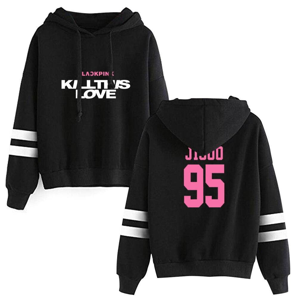 2019 BLACKPINK Hooded Sweatshirts Kpop Hot Sale Hoodie JISOO JENNIE ROSE LISA Women Long Sleeve Pullover Hoodies Casual Clothes